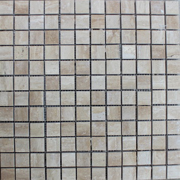 Roman Beige Travertine Polished Mosaic