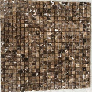 Dark Emperador Marble Polished Mosaic