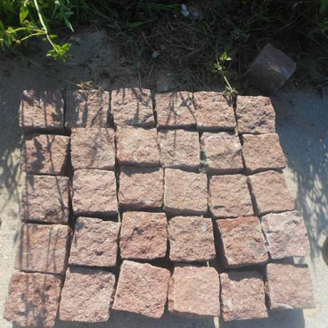 Putian Red Porphyry Granite Cube Setts