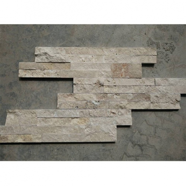 Henan White Travertine Splited Ledgestone